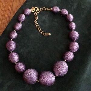 Kenneth Jay Lane choker of metallic wrapped beads